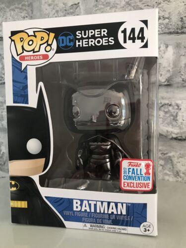 Heroes Black Chrome Batman #144 NYCC 2017 Exclusive Vinyl Figure Funko Pop