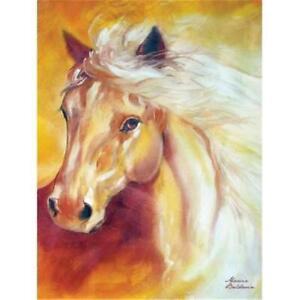 Marcia-Baldwin-21057-GOLDEN-SOLITUDE-6x8-Canvas-Horse-Wall-Art-in-Gift-Box