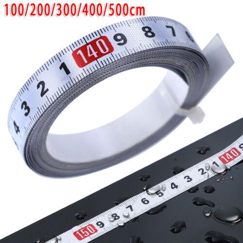 Rolled Ruler Adhesive Measuring Waterproof Rust proof 1-5 Meter Tool Scale Tape