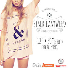 SISER EasyWeed Heat Transfer Vinyl Tshirt /Textile HTV 12x 60 (5ft)