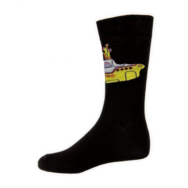 UK Size 7-11 The Beatles Yellow Submarine Official Mens Black Socks