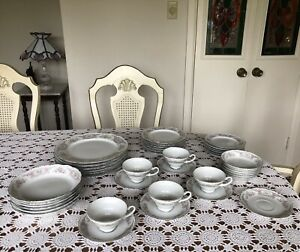 STYLE-HOUSE-POMPADOUR-CHINA-MADE-IN-JAPAN-41-PIECES-DINNERWARE-SET-For-6