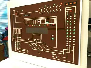StAr-TrEk-prop-Tos-Enterprise-Engineering-panel-lcars-computer-EXCELLENT