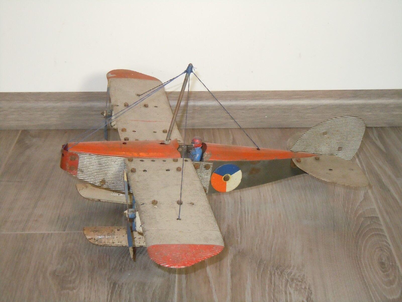 Aeroplan med Pilot - Meccano England 35457