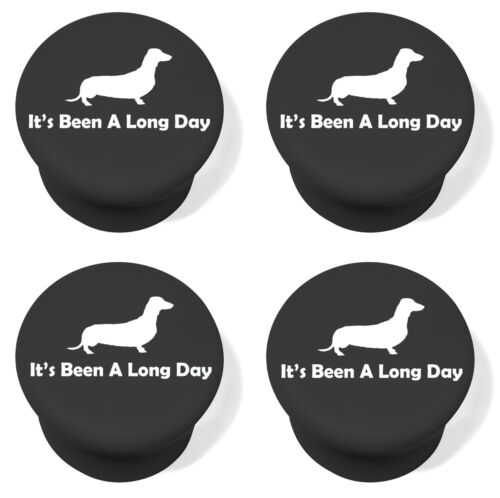Silicone Wine Bottle Stopper Set of 4 Funny It/'s Been A Long Day Dachshund