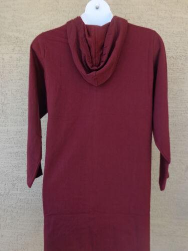 Roaman/'s 1X 22-24W  Light Weight Jersey Fleece Lined Hooded Jacket Burgundy