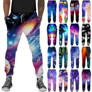 4167348c1b Galaxy 3D Print Mens Women Jogger Sport Pants Casual Running ...