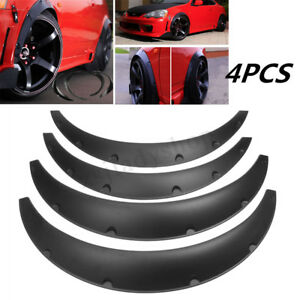 4pcs-Universal-ensanchado-JDM-Fender-Flares-Ruedas-Protectores-de-montaje-de-PU