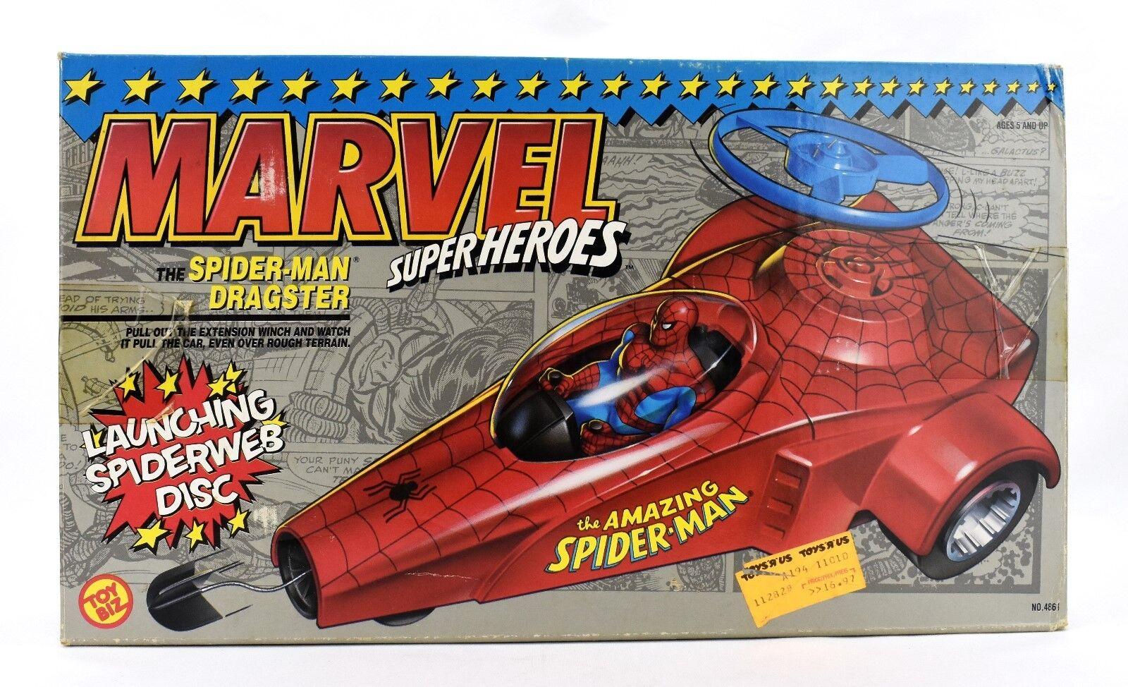 Toybiz-Marvel  Super Heroes-Spider-Man Dragster Figurine Véhicule  produit de qualité