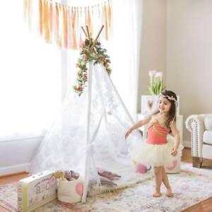 Spitze Tipi Zelt für Kinder Innen Draussen Kinder Spielzelt