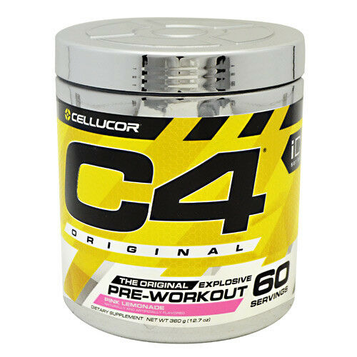 C4 Pre-Workout Rosa Rosa Pre-Workout Lemonade 6.87 oz, 60 servings d5d046