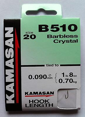 Kamasan B510 Hooks to Nylon Various Sizes