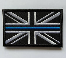 Thin Blue Line Embroidered Patch Remembrance Morale Badge Vests K9 Bag Flag UK