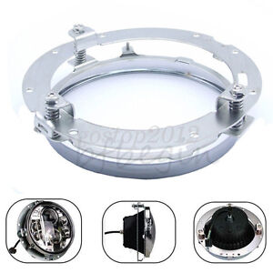 7-039-039-LED-Moto-Phare-Feux-Support-Headlight-Mount-Pour-Harley-Davidson-Touring