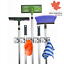 Home It Mop and Broom Holder 5 Position with 6 Hooks Garage Storage Holds up...