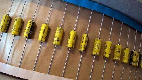 ZML247 Lot of 50 pcs Nichicon TKB Series 10uF 16V 20/% Axial Aluminum Capacitor