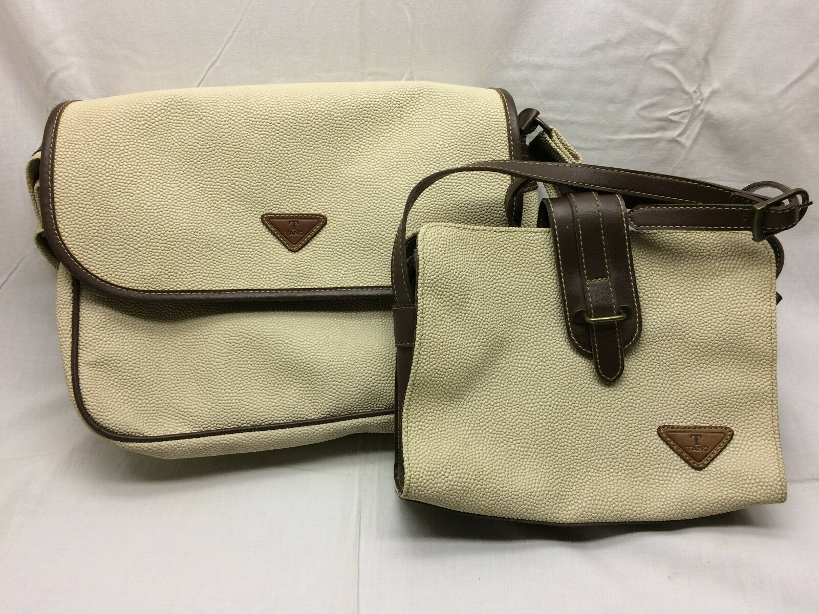 TANO International Messager BAG LARGE PURSE Over Night Matching Small Purse