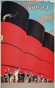 Vintage Art Print Poster Cunard Line Ship A1 A2 A3 A4 A5
