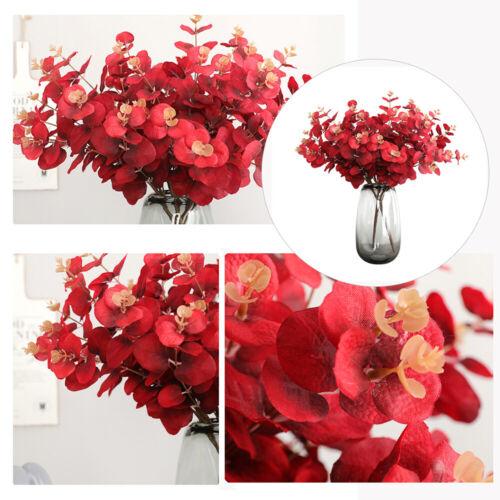 5 Twigs 20 Heads Imitation Artificial Eucalyptus Flower Wedding Party Decorative