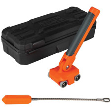 Klein Tools Magnetic Wire Puller 180 Degree Pivot Handle Mar Resistant Wheel