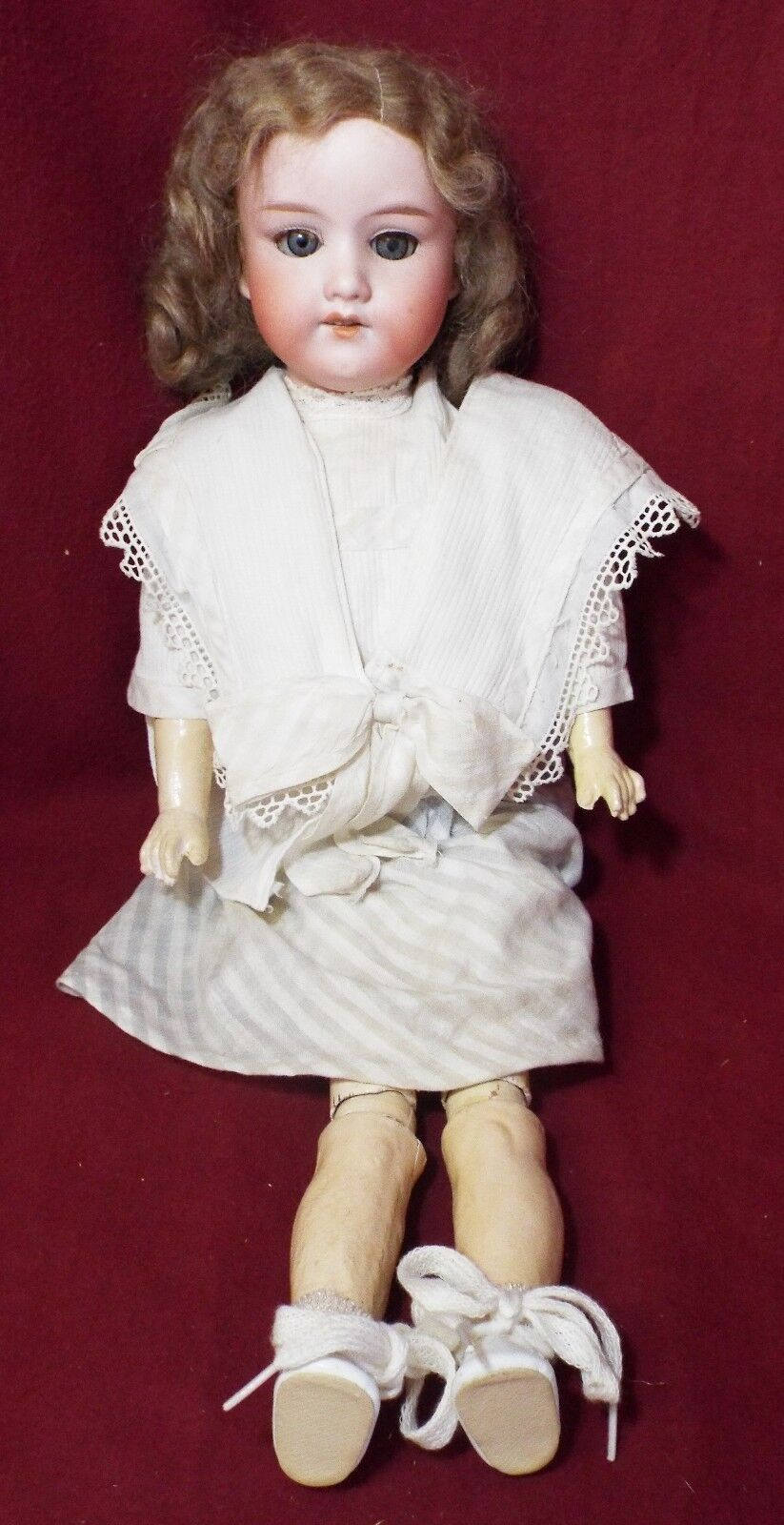 Old Antique 16  ARMAND MARSEILLE Germany  FLORADORA  Jointed DOLL Bisque Head