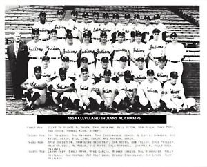 1954 CLEVELAND INDIANS 8X10 TEAM PHOTO BASEBALL MLB PICTURE AL CHAMPS