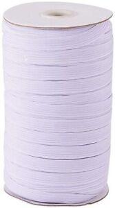 Blanc-Cordon-Elastique-7mm-Plat-Bungee-Extensible-Choc-Corde-Pour-Couture
