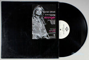Britney-Spears-Stronger-2000-Vinyl-12-034-Single-White-Label-PROMO