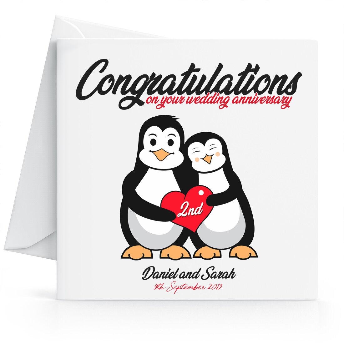 Auguri Anniversario Matrimonio Marito : Personalizzato ° nd biglietto auguri anniversario