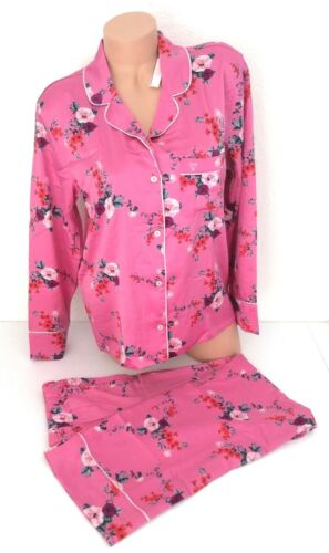 $90 Victoria Secret Satin Afterhours Pajama PJ Top Bottom Pink Set XS.S NEW