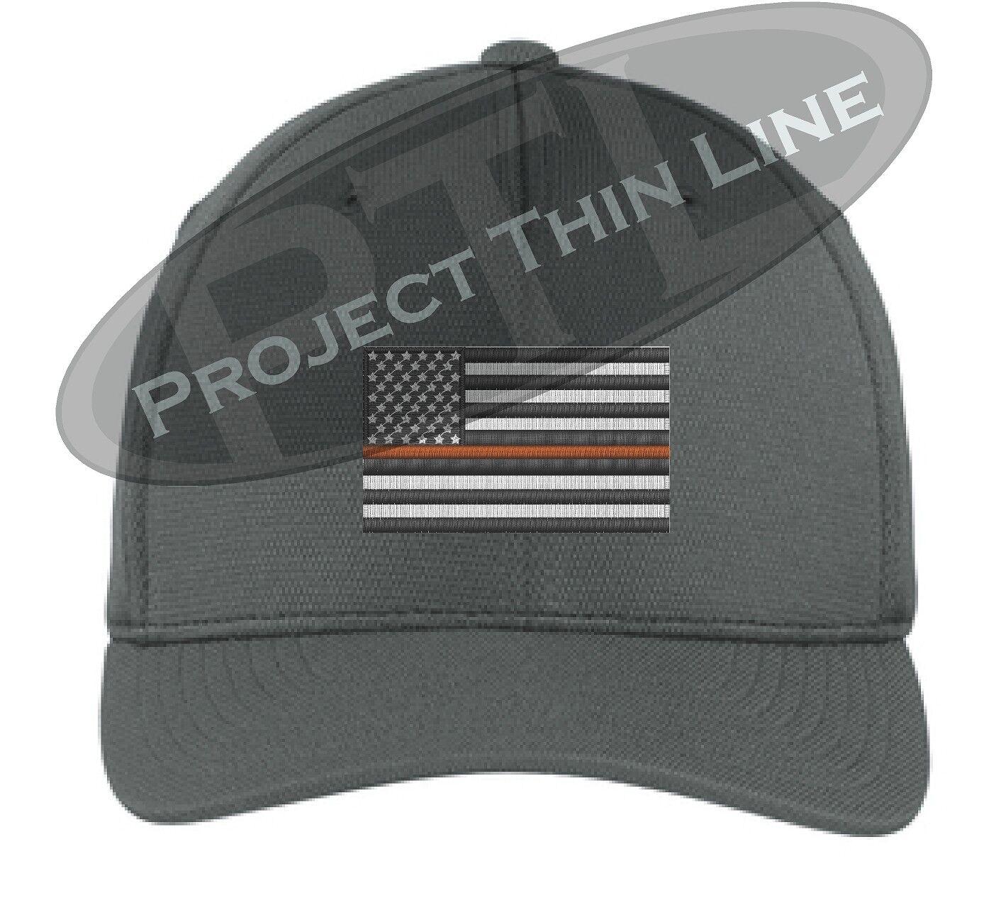 2a98cf855b544 order thin orange rescue line american flag search rescue orange coast  guard flex fit trucker hat