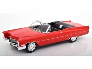 CADILLAC De Ville Cabrio - 1968 - red - KK Scale 1:18