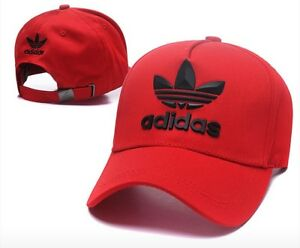 86c7a35a9748d Image is loading Adidas-Trefoil-Strapback-Baseball-Cap-Red-One-Size-