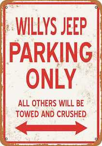 """WILLYS JEEP Sales /& Service Vintage Looking Reproduction  9/"""" x 12/"""" Aluminum Sign"""