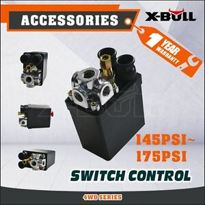 X-BULL Solid Air Compressor Pump Pressure 145-175 PSI 12 Bar 240V Switch Control