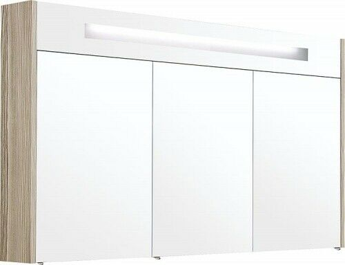 Spiegelschrank m. bel. Blende Lärche hellbraun 3 Türen 1200x750x188mm