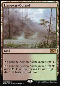 Llanowar-Odland-FOIL-Llanowar-Wastes-NM-M15-GER-Magic-MTG