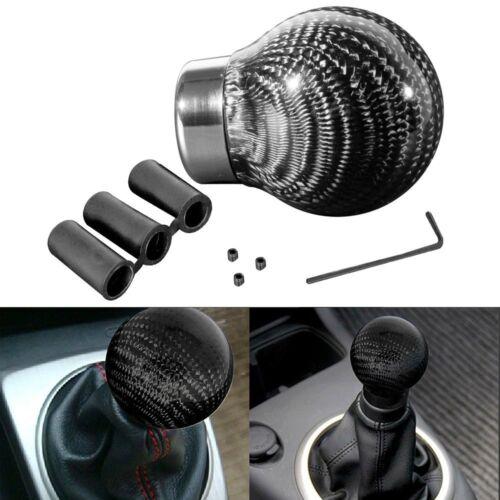 Car SUV Manual//Automatic Real Carbon Fiber Ball Gear Shift Shifter Knob Head JDM