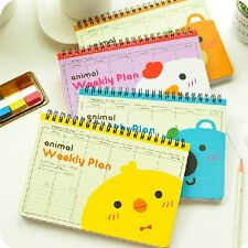 """We R Animals"" 1pc Planner Agenda Scheduler Cute Coil Weekly Journal Notebook"