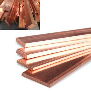 4pcs 99/% Copper Copper Strip T2 Cu Metal Bar Plate 1mm x 10mm x 250mm