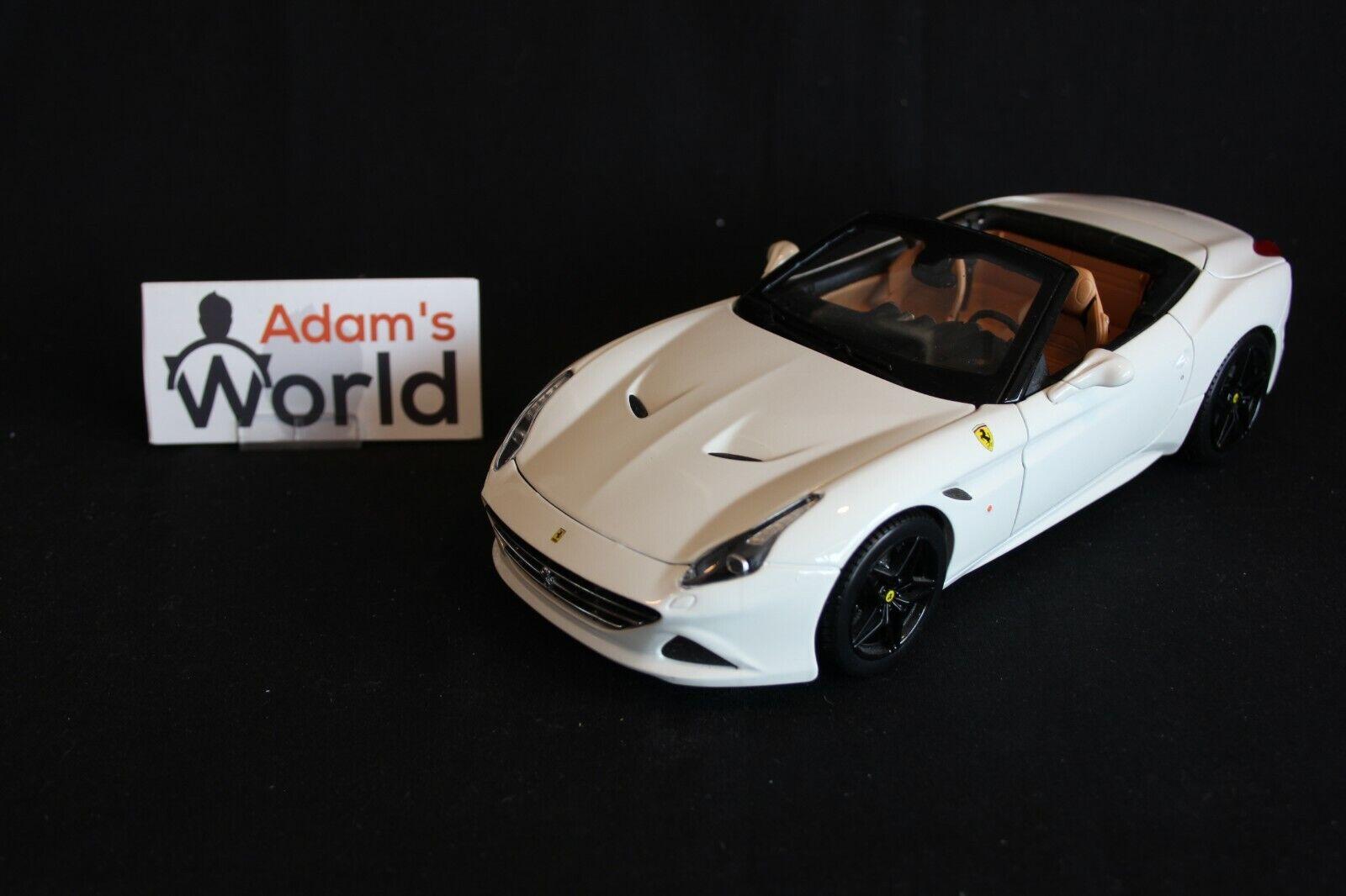 Bburago Signature Ferrari California T (open top)1 18 Weiß (PJBB)