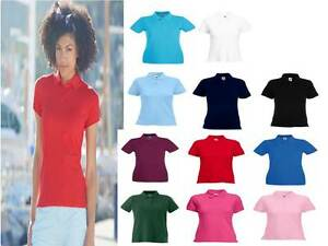 POLO-DONNA-FRUIT-OF-THE-LOOM-MANICA-CORTA-PIQUE-039-F63030-100-COTONE-LADY-FIT