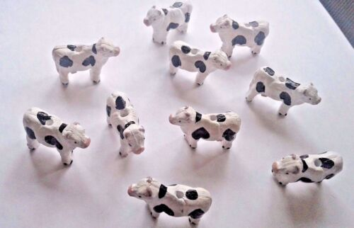Peruvian Ceramic Black White Brown Red Blue Cow Animal Beads 1 OR Lot of 5 OR 10
