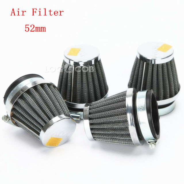 4x 52MM AIR FILTERS FILTER PODS FOR 1986-2003 KAWASAKI ZG1000 CONCOURS 1000 998