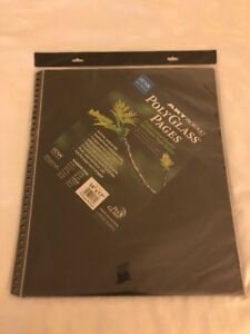 Itoya-Art-Profolio-14-034-x-17-034-Crystal-Clear-PolyGlass-Pages-10-Pages-Per-Pack