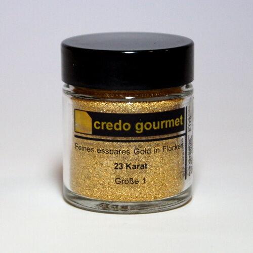 Goldflocken Blattgoldpulver Essbares Blattgold 23 Karat Größe 1
