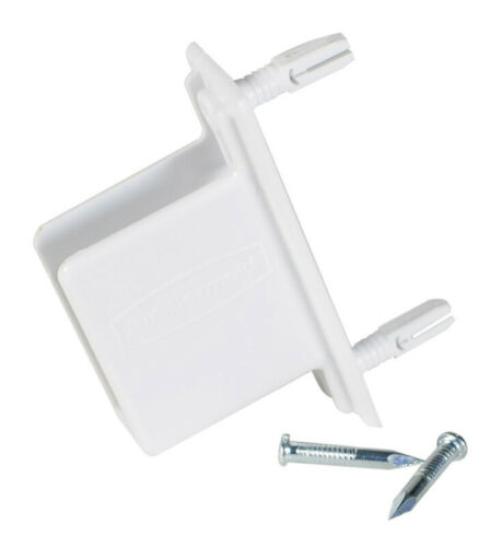 3D61 Rubbermaid 1950472  Fast Track Wall End Bracket White