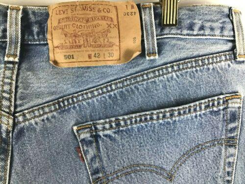 Levis 501 Jeans 42x30 Vintage No Big E No Redlines