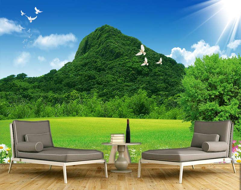 Natural Clear Sky 3D Full Wall Mural Photo Wallpaper Printing Home Kids Decor