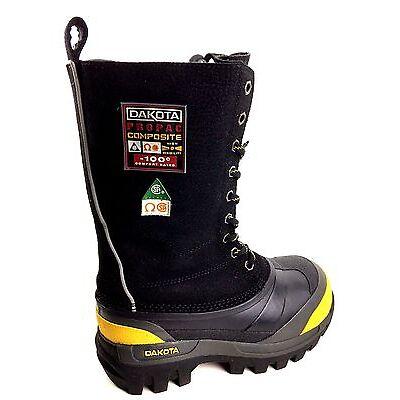 Dakota Composite Toe Black Winter Safety boots Women's Size US.7 Mens US. 6